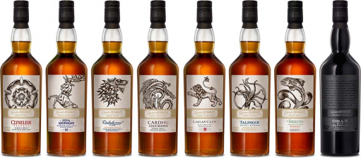 De Game of Thrones Single Malt Collection