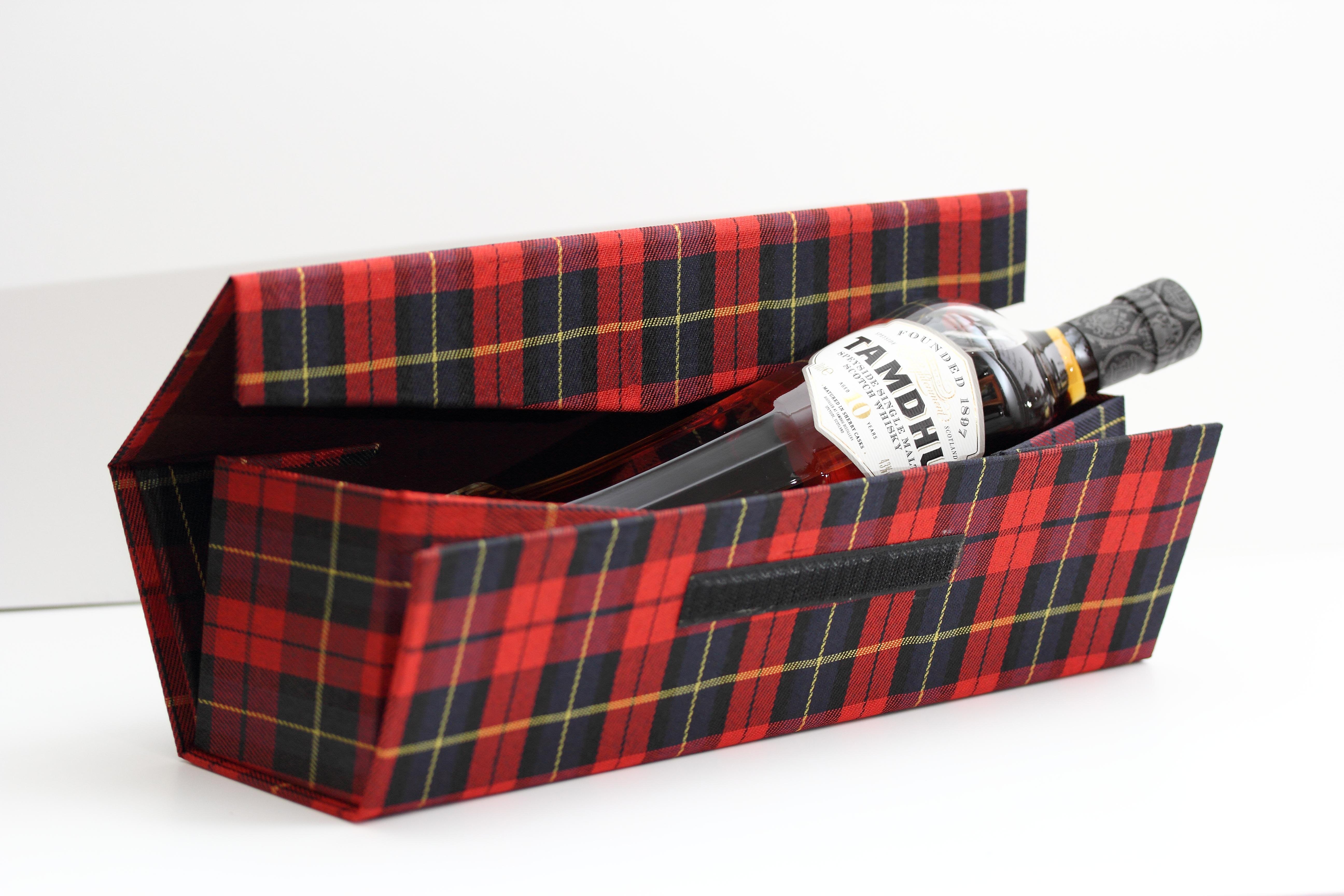 Schotse ruit doos rood