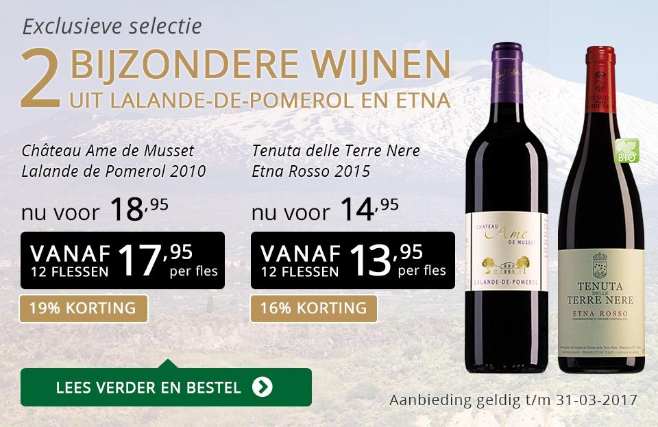 Exclusieve wijnen maart 2017 - goud/zwart