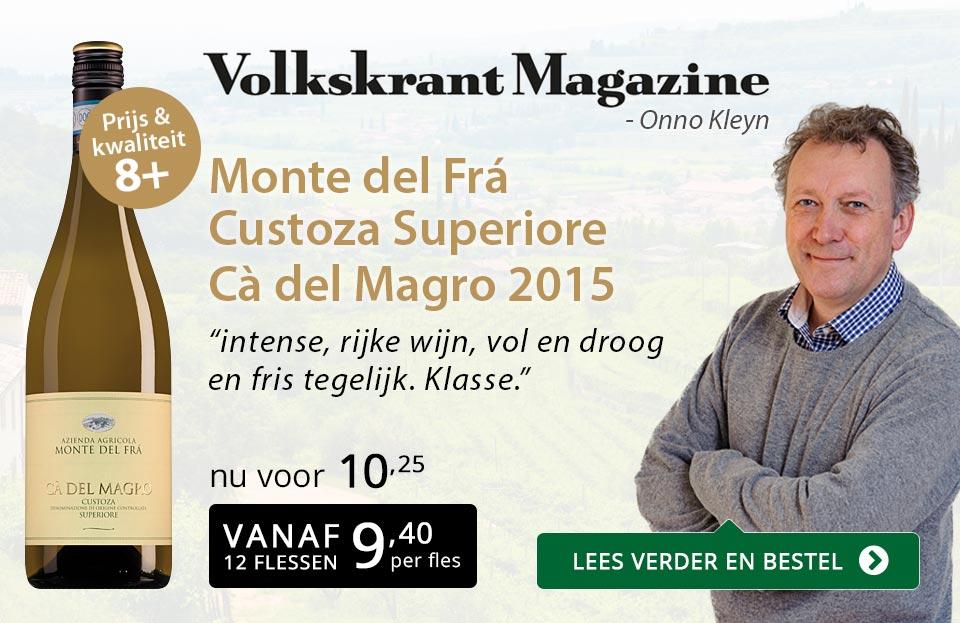 Volkskrant Magazine: Monte del Fra Ca del Magro - goud/zwart