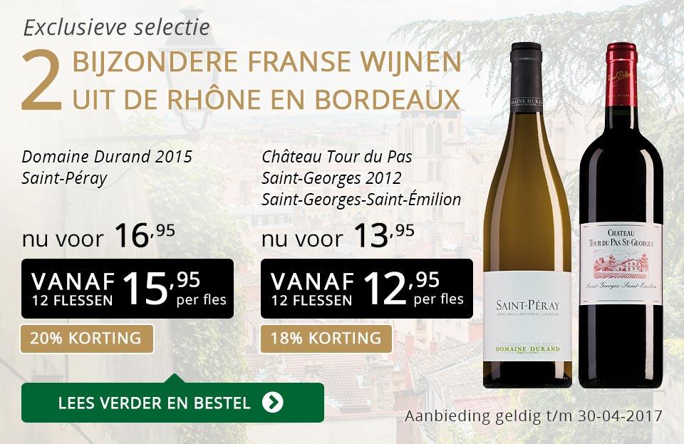 Exclusieve wijnen april 2017 - goud/zwart