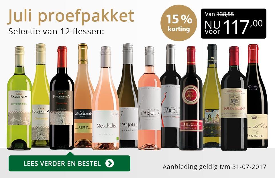 Proefpakket wijnbericht juli 2017 (117,00) - goud/zwart