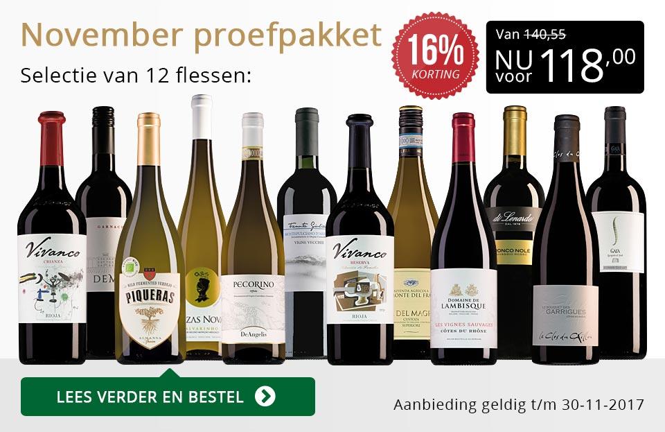 Proefpakket wijnbericht november 2017 (118,00) - goud/zwart
