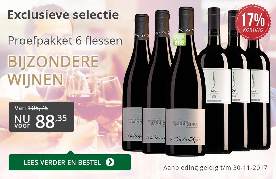 Proefpakket bijzondere wijnen november 2017 (88,35) - grijs/goud