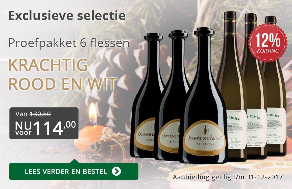 Proefpakket bijzondere wijnen december 2017 (114,00) - grijs/goud