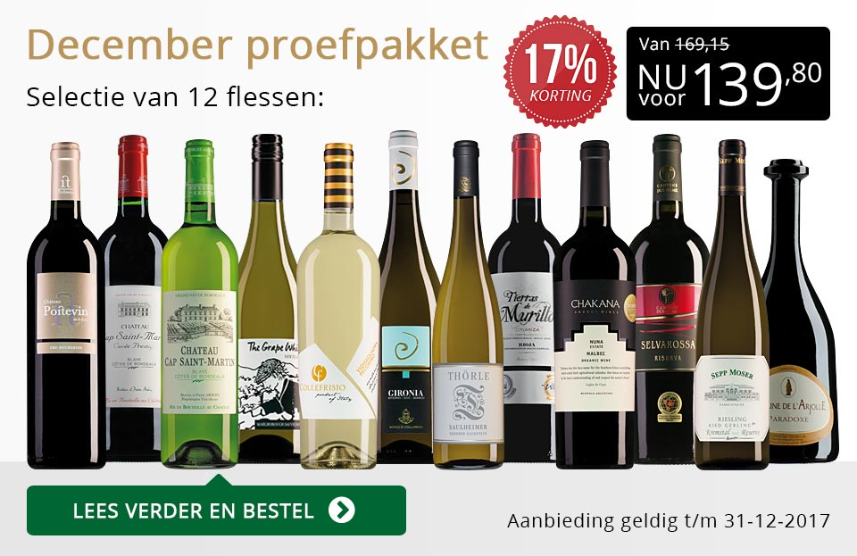 Proefpakket wijnbericht december (139,80) - goud/zwart