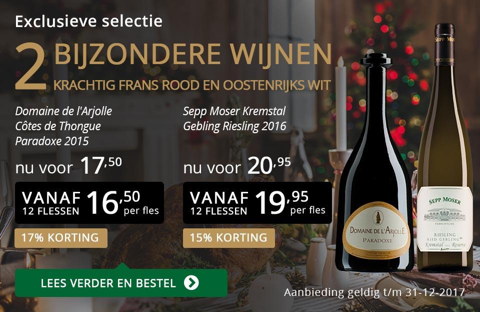 Exclusieve wijnen december 2017