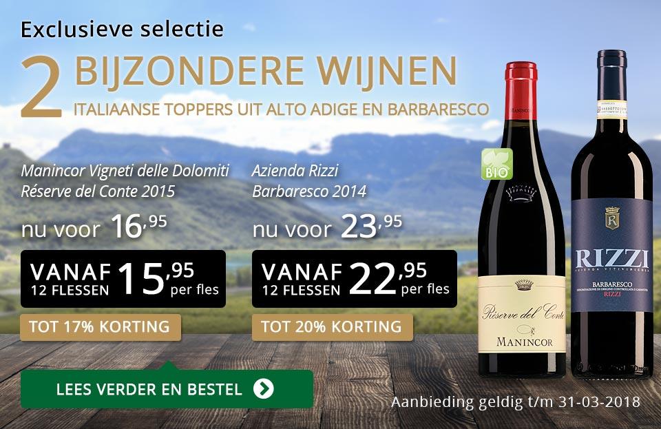 Exclusieve wijnen maart 2018 - goud/zwart