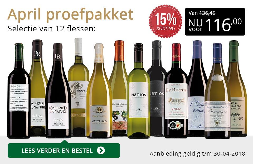 Proefpakket wijnbericht april 2018 (116,00) - goud/zwart
