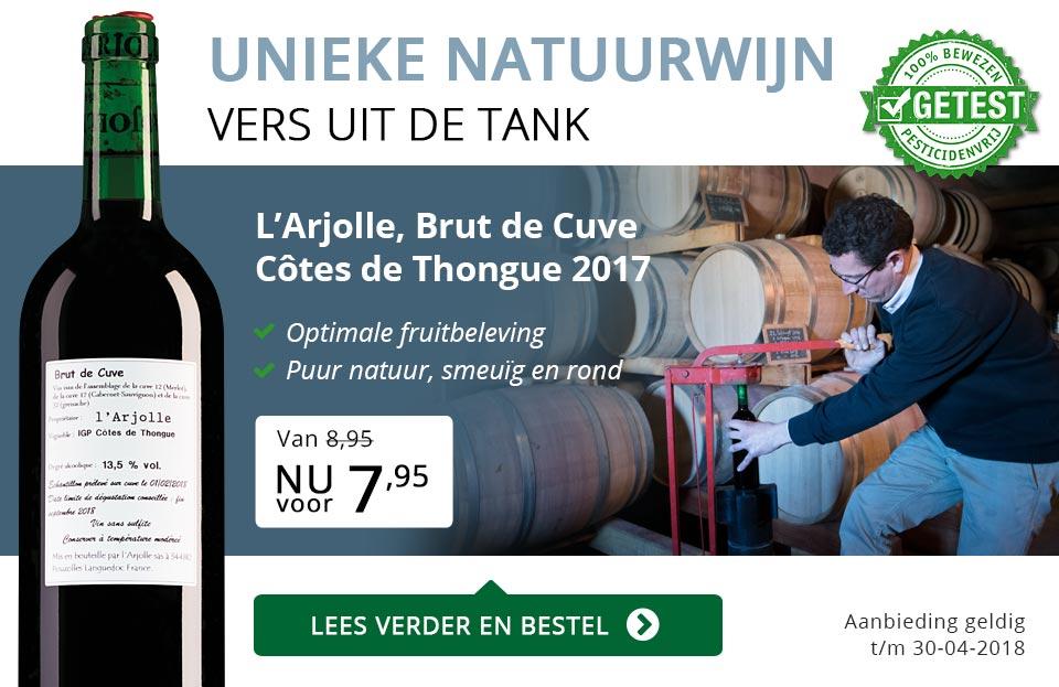 Unieke natuurwijn - L'Arjolle Brut de Cuve (7,95)