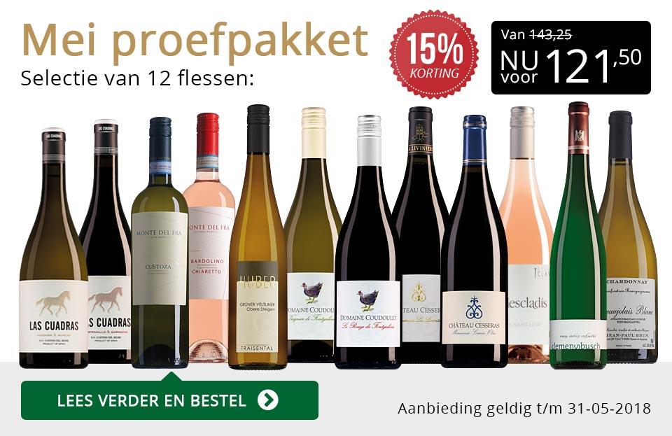 Proefpakket wijnbericht mei 2018 (121,50) - goud/zwart