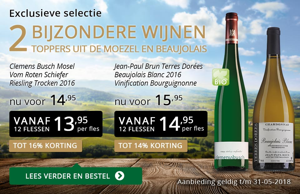 Exclusieve wijnen mei 2018- goud/zwart