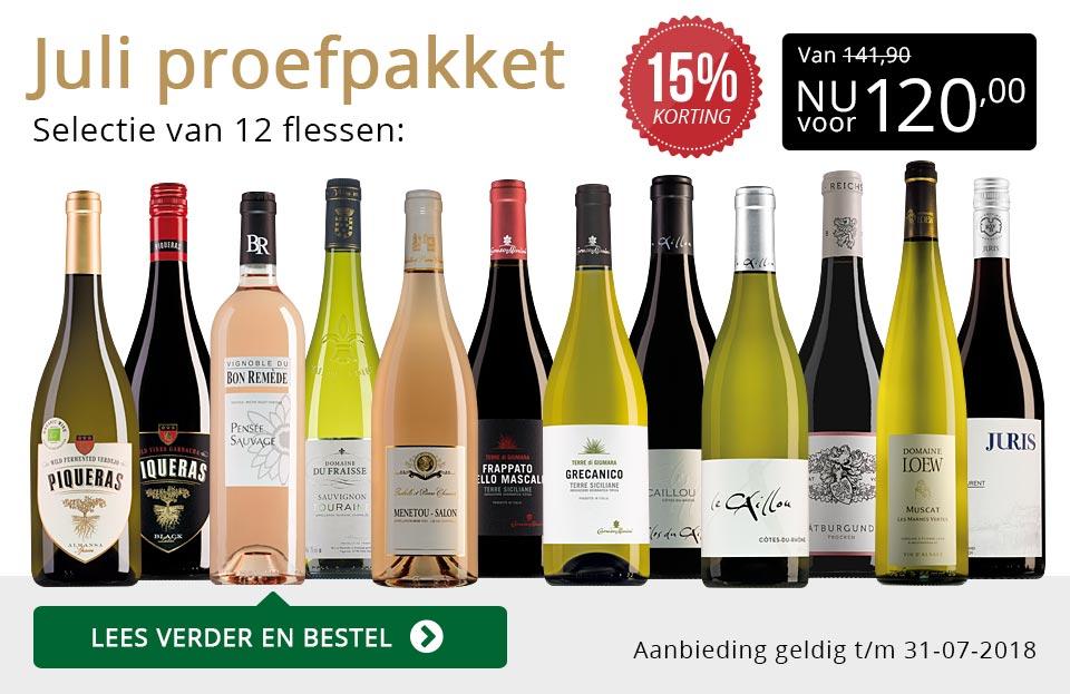 Proefpakket wijnbericht juli 2018 (120,00) - goud/zwart