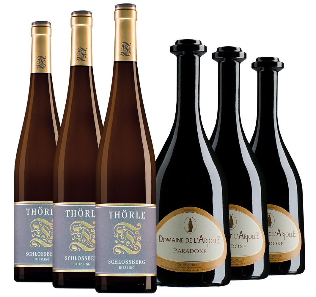 Proefpakket bijzondere wijnen december (2x3 flessen)