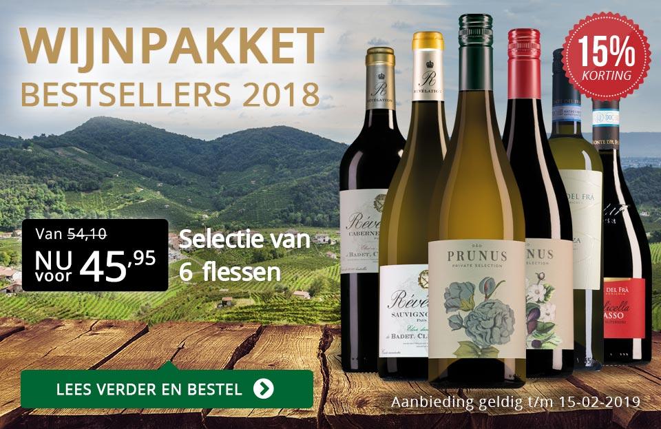 Wijnpakket bestsellers 2018 met knallende korting - zwart/goud