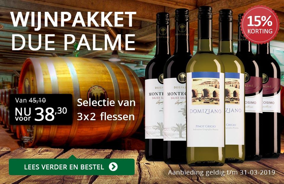 Wijnpakket Due Palme (38,30) - zwart/goud