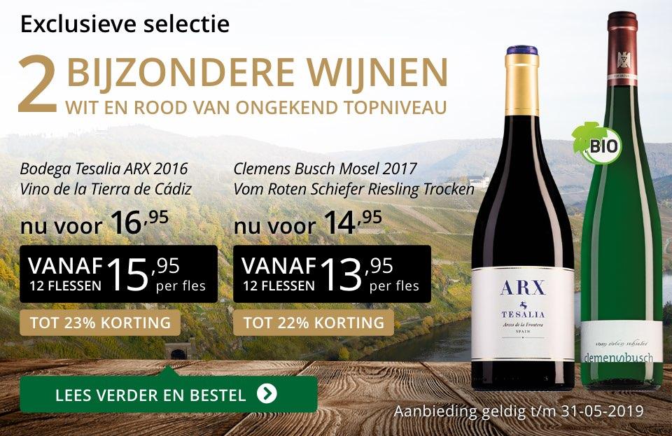 Twee bijzondere wijnen mei 2019- goud/zwart