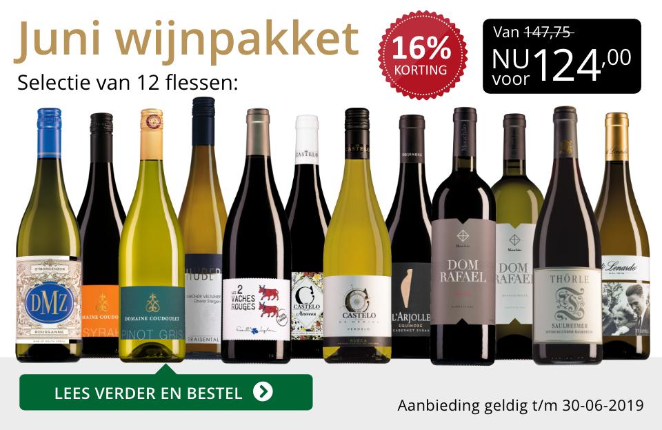 Wijnpakket wijnbericht juni 2019 (124,00) - goud/zwart