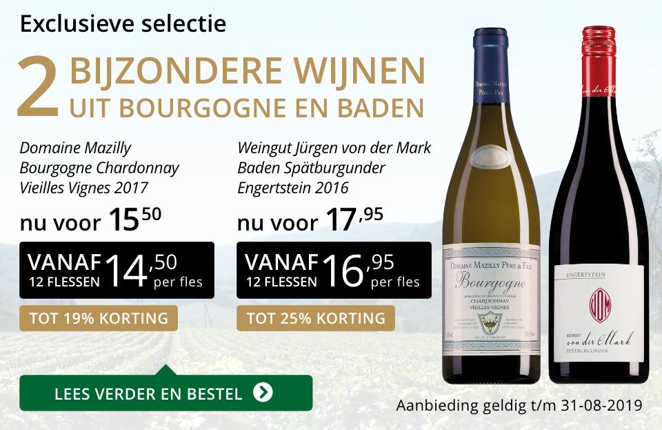 Twee bijzondere wijnen augustus 2019 - goud/zwart