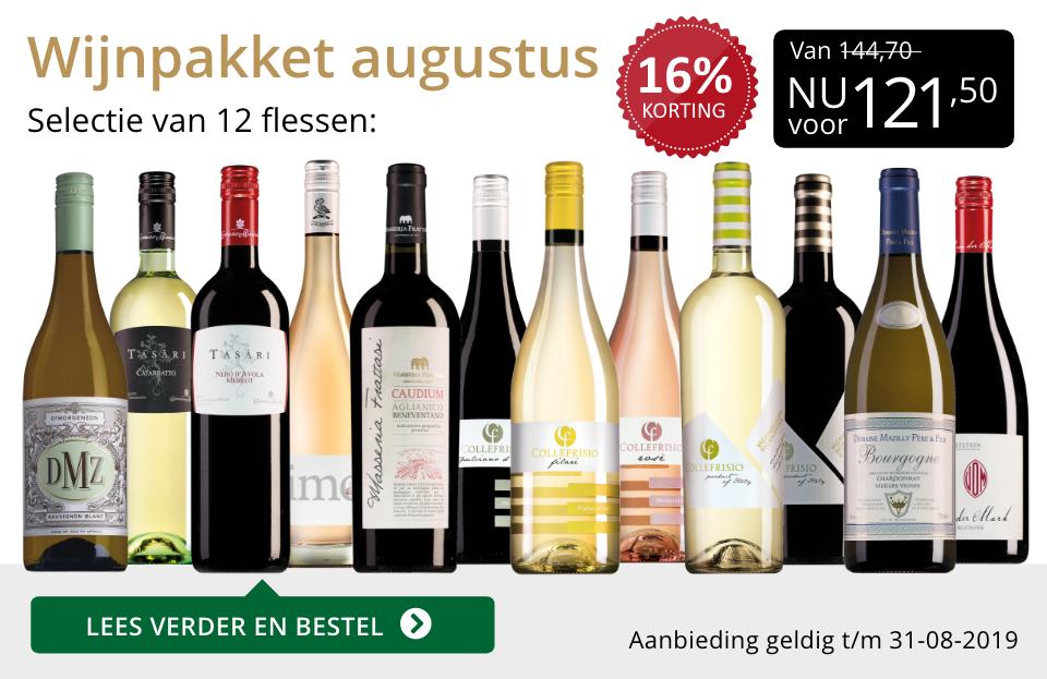 Wijnpakket wijnbericht augustus 2019 (121,50) - goud/zwart
