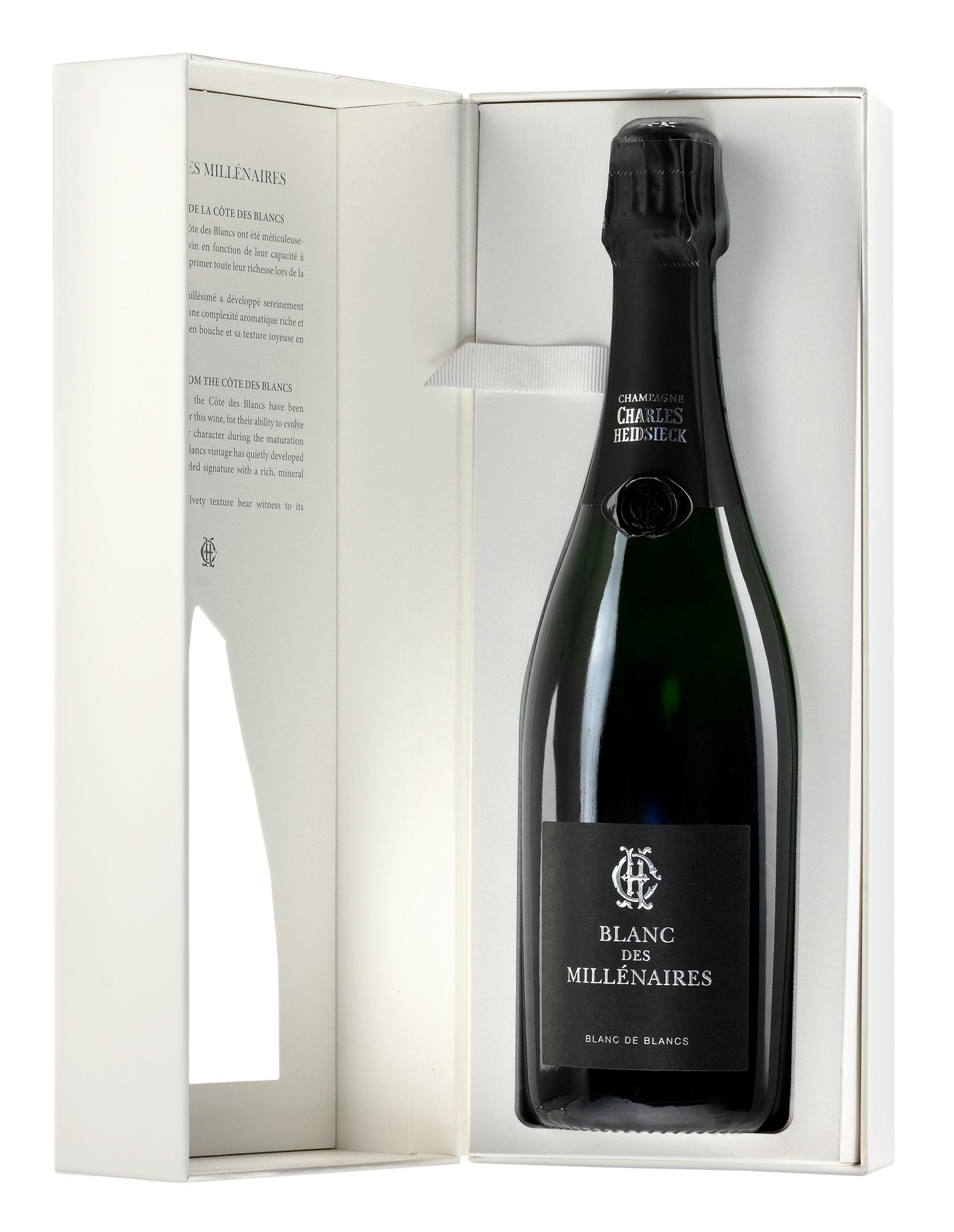 Charles Heidsieck Champagne Blanc des Millénaires in geschenkdoos