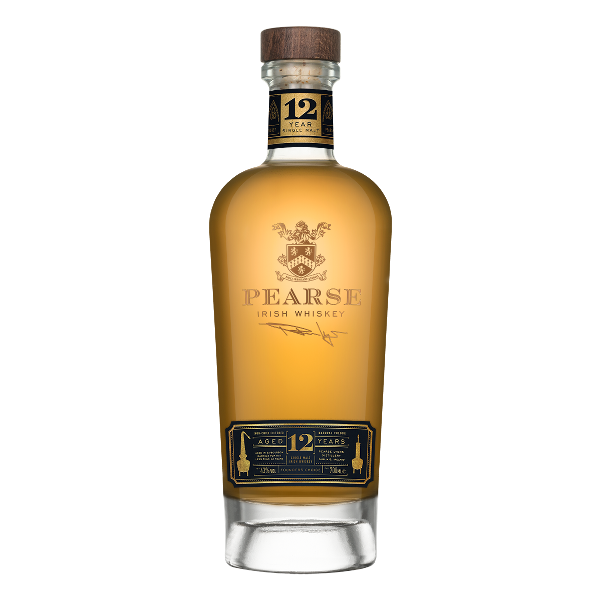 Pearse Lyons 12yrs Founder's Choice Irish Single Malt Whiskey