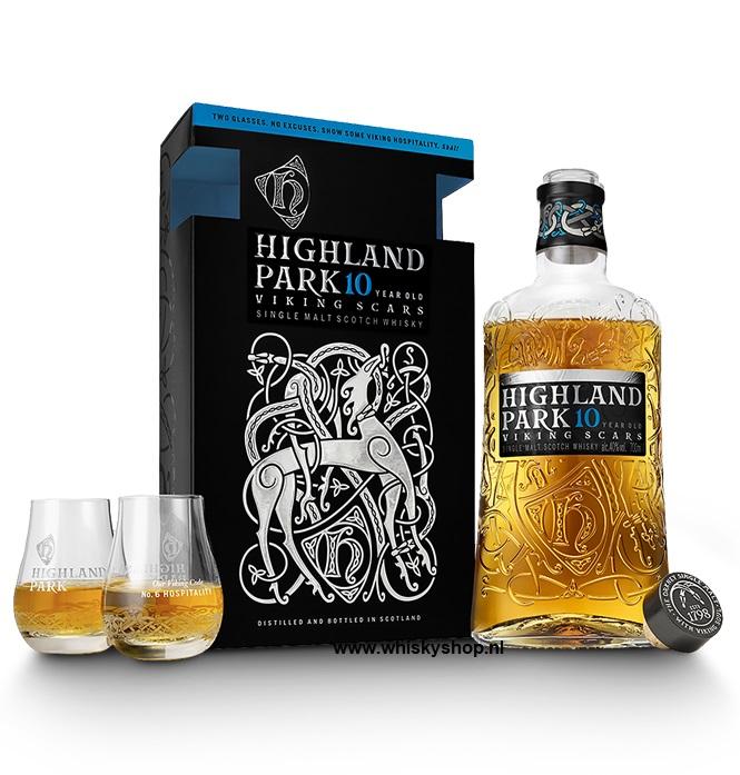 Highland Park 10 yrs met 2 glazen