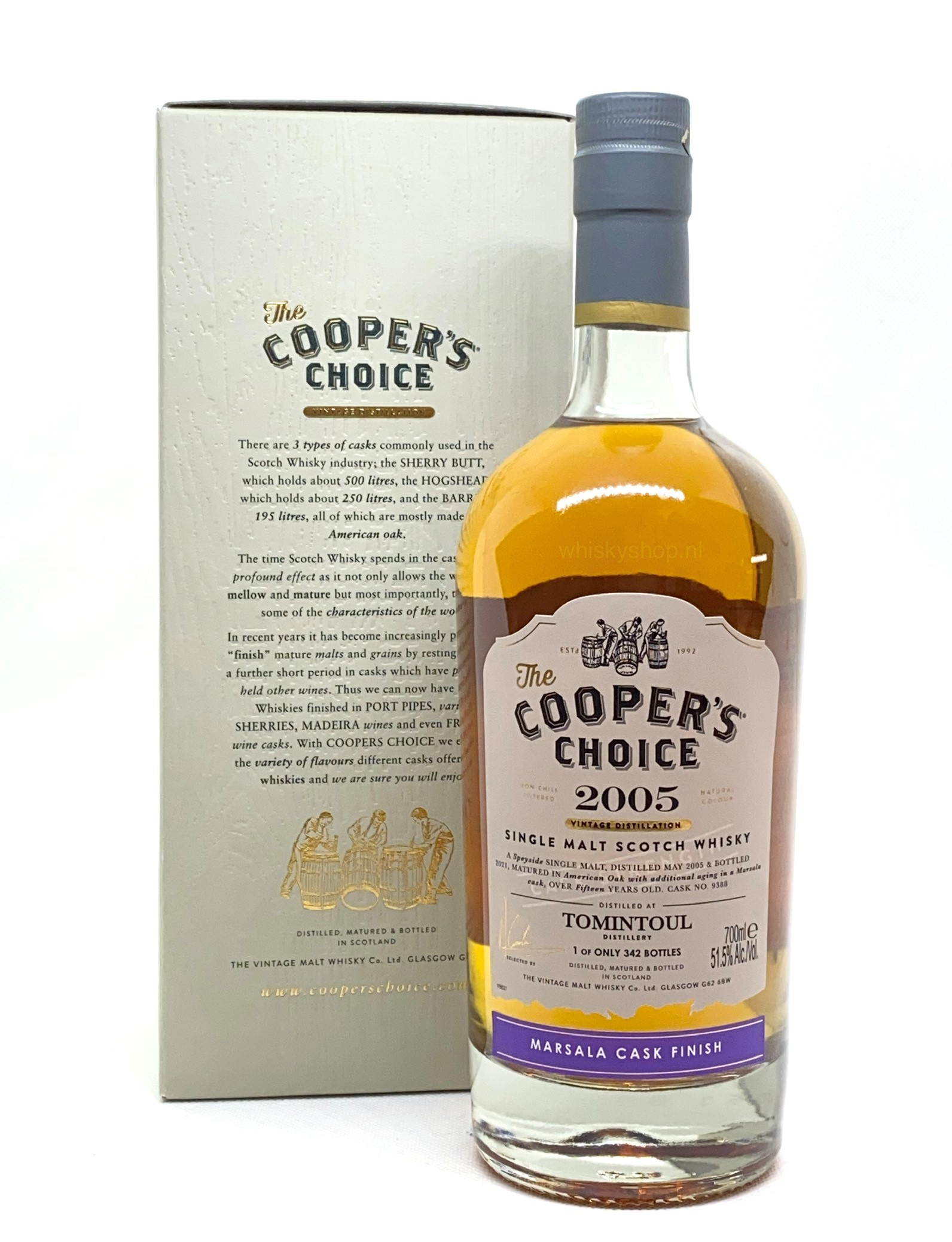 Tomintoul 2005 Marsala Finish - Cooper's Choice