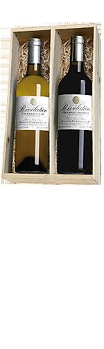 Revelation Cabernet/Merlot en Chardonnay 2 flessen in houten kist