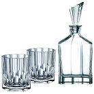 Crystal decanter whisky set