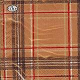 Servetten Schotse ruit Cinnamon
