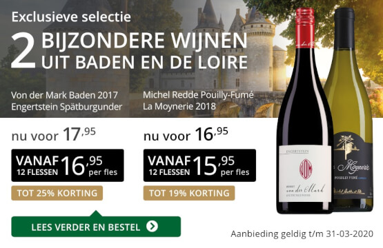 Twee bijzondere wijnen maart 2020 - goud/zwart